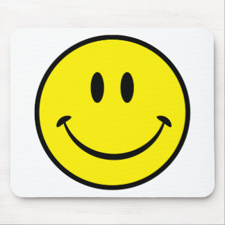 Smiley Happiness Face Mouse Mat
