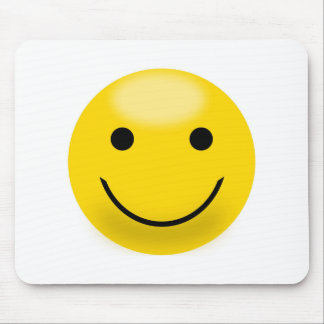 Smiley Happiness Face Mouse Pad