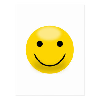Smiley Happiness Face Postcard