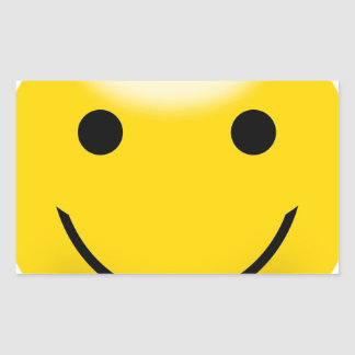 Smiley Happiness Face Rectangular Sticker