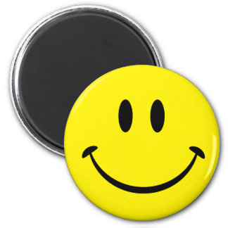 Smiley Happiness Face Refrigerator Magnet