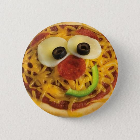 Smiley/Happy Face Pizza Button