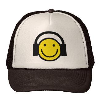 Smiley Headphones Mesh Hats
