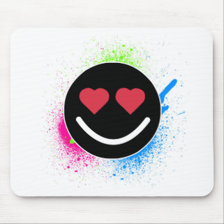 Smiley Heart Mouse Pad