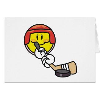 Smiley Hockey Greeting Card