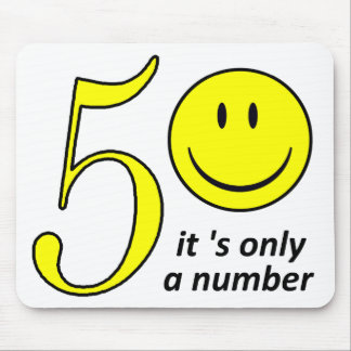 smiley it only a number 50 mouse mat