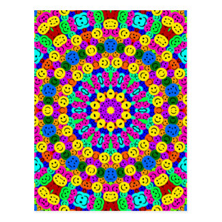 SMILEY KALEIDOSCOPE POSTCARD