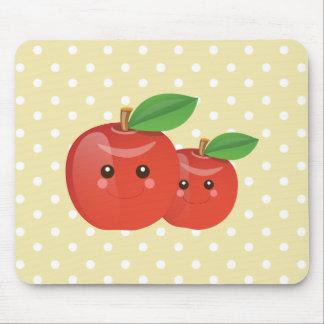 Smiley Kawaii Apple Mousepad
