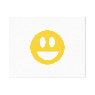 Smiley laugh lol gallery wrapped canvas