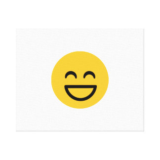 Smiley laugh lol stretched canvas print