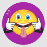 Smiley Making Face Sticker