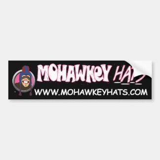 Smiley Mohawkey Monkey bumper sticker