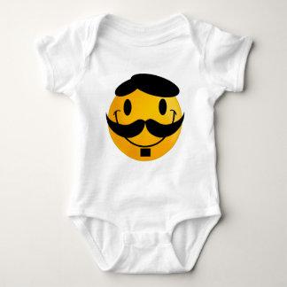 Smiley Moustache Baby Bodysuit