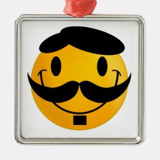 Smiley Moustache Christmas Ornament
