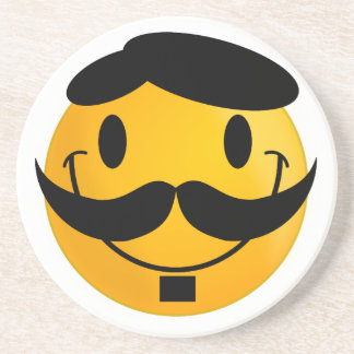 Smiley Moustache Coaster