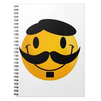 Smiley Moustache Notebooks