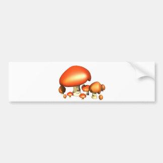 Smiley mushroom family bumper sticker