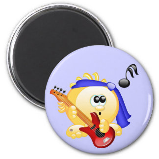 Smiley Music Guitar Player Magnet