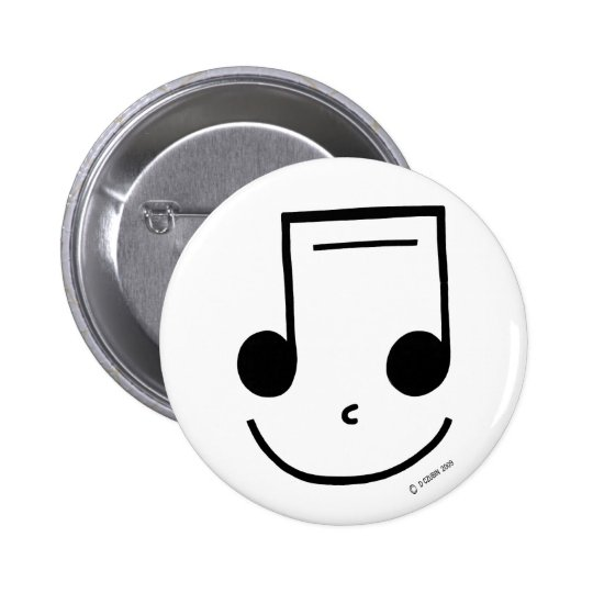 Smiley Notes 6 Cm Round Badge