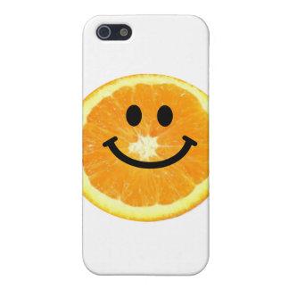 Smiley Orange Slice Cases For iPhone 5