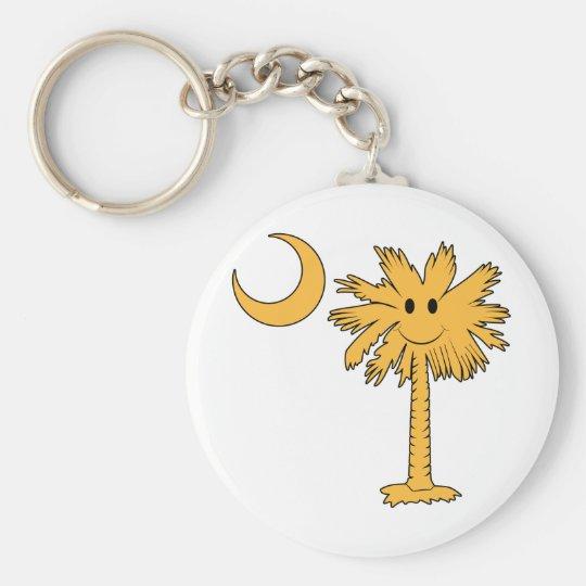 Smiley Palmetto Basic Round Button Key Ring