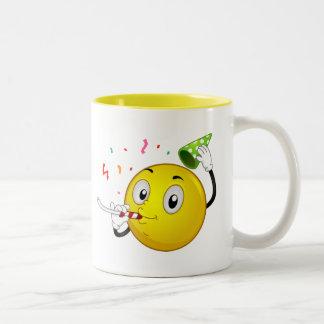 Smiley Party Two-Tone Coffee Mug