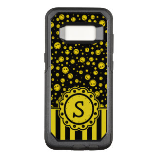 Smiley Polka Dot Monogram OtterBox Commuter Samsung Galaxy S8 Case