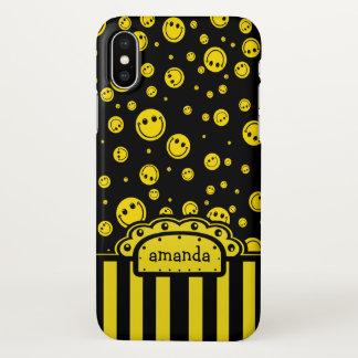 Smiley Polka Dot Name Template iPhone X Case