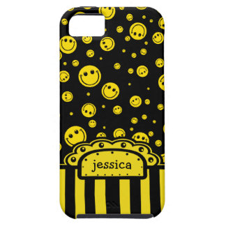 Smiley PolkaDot Name Template Case For The iPhone 5