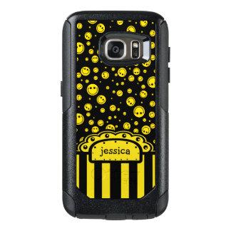 Smiley PolkaDot Name Template OtterBox Samsung Galaxy S7 Case