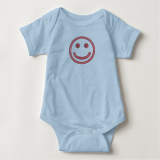 Smiley - Pop-eyed Pink Smiley Baby Bodysuit