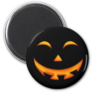 Smiley pumpkin fridge magnet