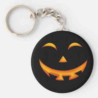 Smiley pumpkin key ring