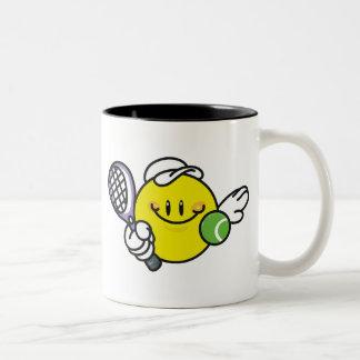 Smiley Racquetball Two-Tone Coffee Mug