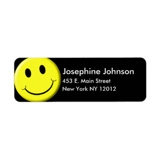 Smiley Return Address Labels