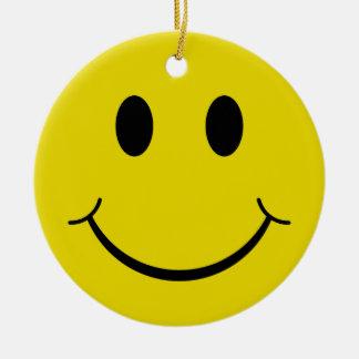 Smiley Round Ceramic Decoration