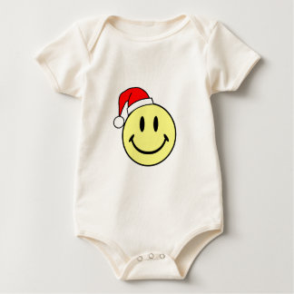 Smiley (Santa Hat) Baby Bodysuit