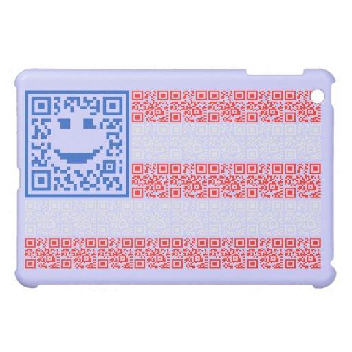 Smiley Scan Flag QR Code Design iPad Mini Cover
