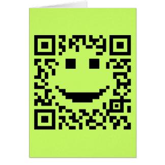 Smiley Scan UPC QR Design Greeting Card