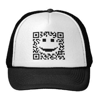Smiley Scan UPC QR Design Mesh Hat