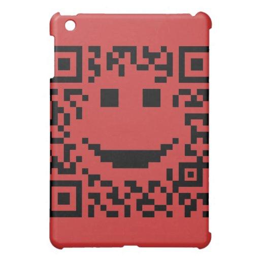 Smiley Scan UPC QR Design iPad Mini Case