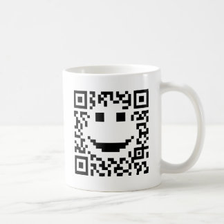 Smiley Scan UPC QR Design Coffee Mugs