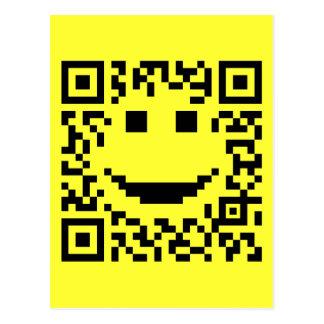 Smiley Scan UPC QR Design Postcard