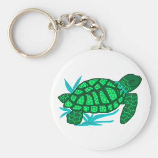 Smiley sea turtle key chain