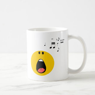 Smiley singing his little heart out coffee mug
