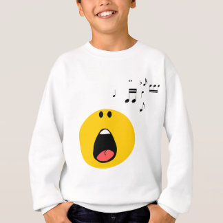 Smiley singing his little heart out sweatshirt