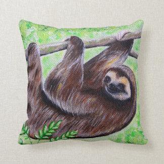 Smiley Sloth Painting Cushion