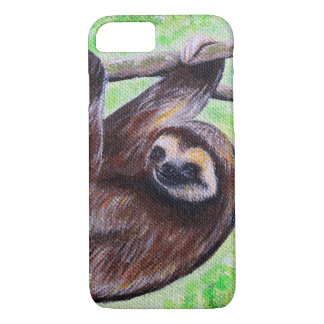 Smiley Sloth Painting iPhone 8/7 Case
