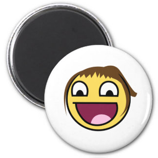 Smiley Smart Expression Smilie Art 6 Cm Round Magnet