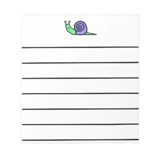 Smiley Snail Notepads